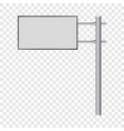 blank big billboard mockup realistic style vector image vector image