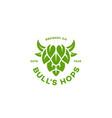 Bulls hops logo