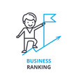 business ranking concept outline icon linear vector image vector image