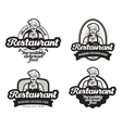 cafe restaurant logo diner or eatery icon vector image vector image
