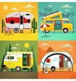 Camping trailers vector image vector image