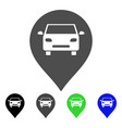 car map marker flat icon vector image