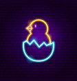 chick neon sign vector image vector image