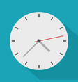 clock modern icon flat style vector image vector image
