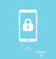 cloud computing storage mobile security protection vector image