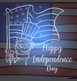 collection stock of independence day card vector image vector image