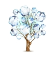 Diamond tree for your design vector image
