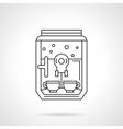 Domestic coffee machine flat line icon vector image vector image