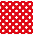 Fabric With Polka Dots Seamless Texture vector image vector image