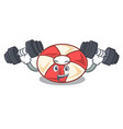 fitness swim tube character cartoon vector image vector image