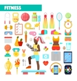 Fitness Trainer Healthy Lifestyle Icons vector image