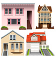 Four house designs vector image vector image
