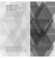 geometric gray triangle abstract background with vector image vector image