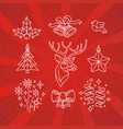 hand drawn christmas emblem winter holiday vector image