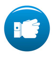 hand greed icon blue vector image vector image