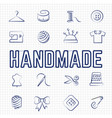 handmade hobby linear icons set vector image vector image