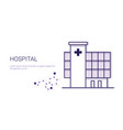 hospital medical treatment business concept vector image vector image