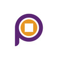 initial letter p and money symbol logo p vector image vector image