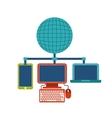 Internet media icon Technology design vector image vector image