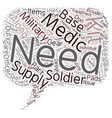 Is Your Military Medical Kit Adequately Stocked vector image vector image