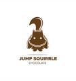 jump squirrel logo vector image vector image