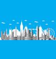 london city gradient 4 vector image vector image