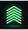 Neon up arrow vector image
