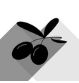olives sign black icon with vector image vector image