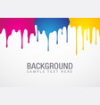 paint drop background vector image