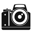 professional camera icon simple style vector image