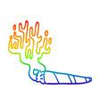 rainbow gradient line drawing cartoon medical pot vector image vector image