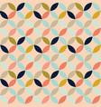 retro geometric circles on pinkseamless pattern vector image vector image