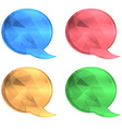 round polygonal cloud for chat blue red green and vector image vector image