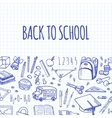 Scholl tools sketch icons horizontal banner vector image vector image