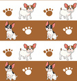 Seamless design with a dog vector image vector image