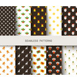 seamless new years patterns brown and white vector image