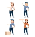 set delivery women vector image