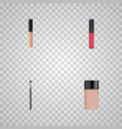 set of cosmetics realistic symbols with foundation vector image vector image