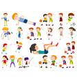 set sport kids vector image vector image
