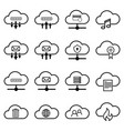 set with cloud icons simple cloud pictograms vector image vector image
