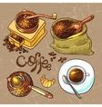 sketch coffee vector image vector image