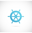Steering Wheel Symbol Icon or Label vector image vector image