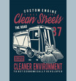 street cleaner vector image vector image