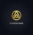 triangle a initial company logo vector image