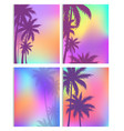 tropical background with coconut palm tree vector image