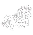 unicorn hand drawn linen for vector image vector image