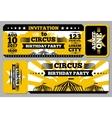 Circus ticket birthday card mockup vector image