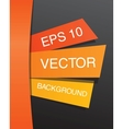 Colorful abstract paper design template EPS 10 vector image