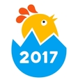 2017 Hatch Chick Flat Icon vector image