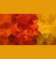 abstract irregular polygonal background red yellow vector image vector image